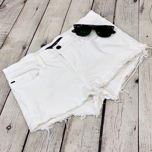 Joe's Jeans White Cutoff Denim Shorts Size 27